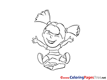 Happy Children Coloring Pages free