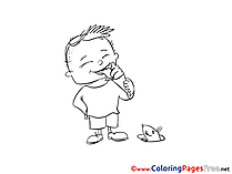 Ice-cream Children Coloring Pages Boy free