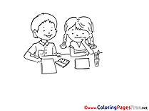 Kindergarten download printable Coloring Pages Children