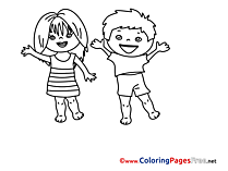 Kindergarten printable Coloring Sheets download