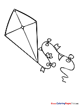 Kite Colouring Sheet download free