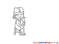 Little Doctor Coloring Sheets download free