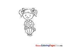 Little Girl Coloring Pages for free