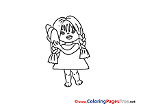 Little Girl free Colouring Page download