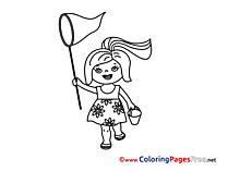Net for Children free Coloring Pages