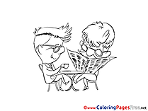 Newspaper printable Coloring Sheets download