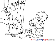 Paint printable Coloring Sheets Baby download