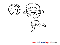 Player Colouring Page printable Ball free