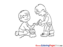 Sandbox Children download Colouring Page