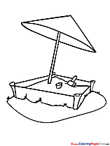 Sandbox download printable Kindergarten Coloring Pages