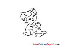 Sandbox Girl for free Coloring Pages download