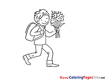 School Boy Colouring Sheet download free