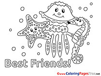 Sea Friends Coloring Pages for free