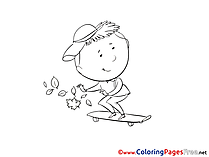 Skate Kids download Coloring Pages