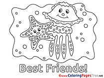 Starfish Kids download Coloring Pages Friends
