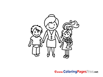 Teacher for Children free Coloring Pages