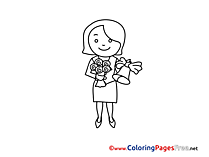 Teacher free Colouring Page download