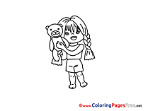 Teddy Bear for Children free Coloring Pages