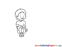 Toilet printable Coloring Sheets Kindergarten download