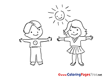 Youngsters for free Coloring Pages download