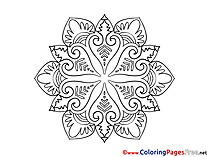 Children Mandala Colouring Page