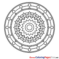 Clipart free Mandala Coloring Sheets