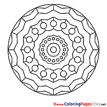Clipart printable Coloring Pages Mandala