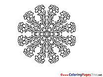 Coloring Sheets Mandala free