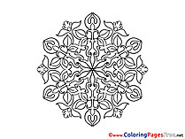 Colouring Page Mandala free