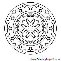 Cosmos Coloring Sheets Mandala free