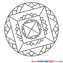 Cosmos download Mandala Coloring Pages