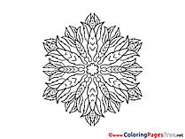 Free Colouring Page Mandala