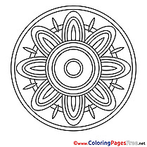 Free Colouring Page with Mandala