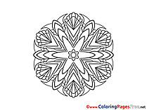 Free Mandala Coloring Sheets