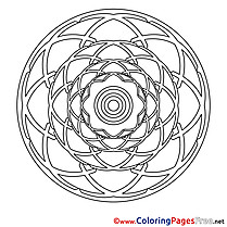 Illustration Colouring Sheet download Mandala