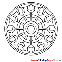 Illustration download Mandala Coloring Pages