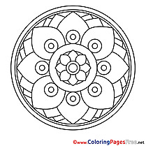 Illustration Kids Mandala Coloring Page