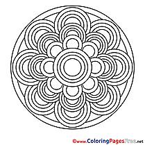 Image Colouring Page Mandala free