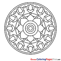 Image for Kids Mandala Colouring Page