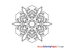 Indian Coloring Pages Mandala