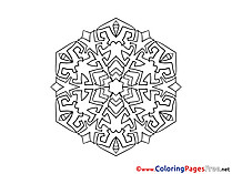 Indian printable Mandala Coloring Sheets