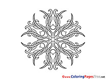 Kids Mandala Coloring Page