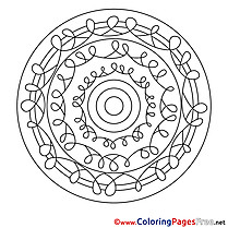 Mandala Coloring Sheet download for free
