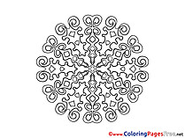 Mandala Colouring Sheet free