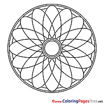Symbol Children Mandala Colouring Page