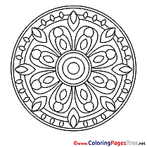 Symbol Mandala free Coloring Pages