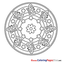 Universe Colouring Page Mandala free