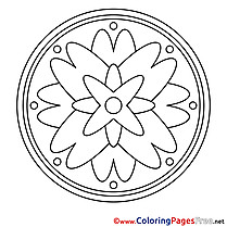 Universe Colouring Sheet download Mandala