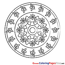 Universe Mandala Coloring Pages download