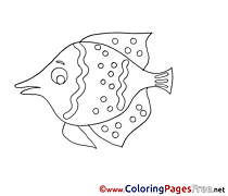Children Coloring Pages free Fish